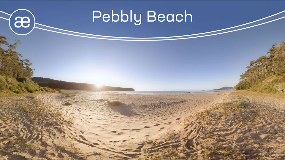Pebbly Beach | VR Nature Experience | 360° Video title=
