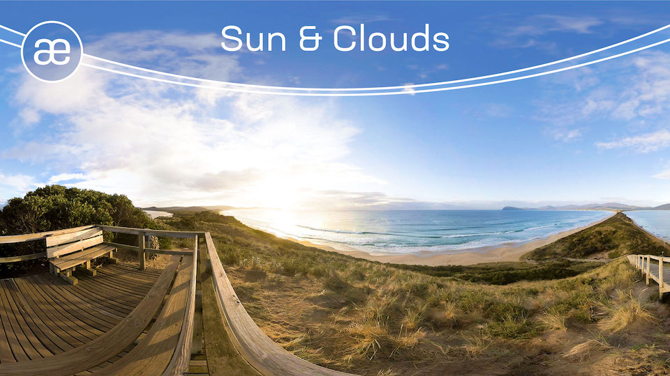 Sun & Clouds | VR Travel Timelapse | 360° Video title=