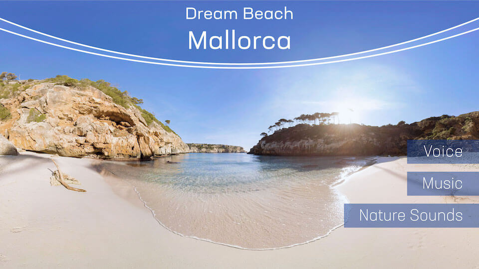 Dream Beach Mallorca | VR Relaxation | 360° Video title=