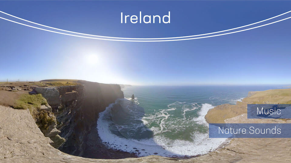 Ireland | VR Relaxation | 360° Video title=