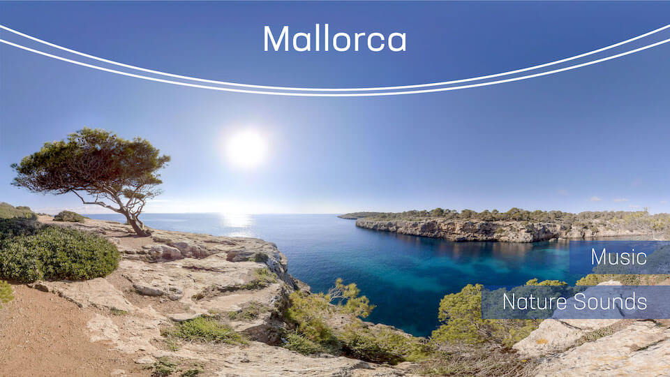 Mallorca | VR Relaxation | 360° Video title=