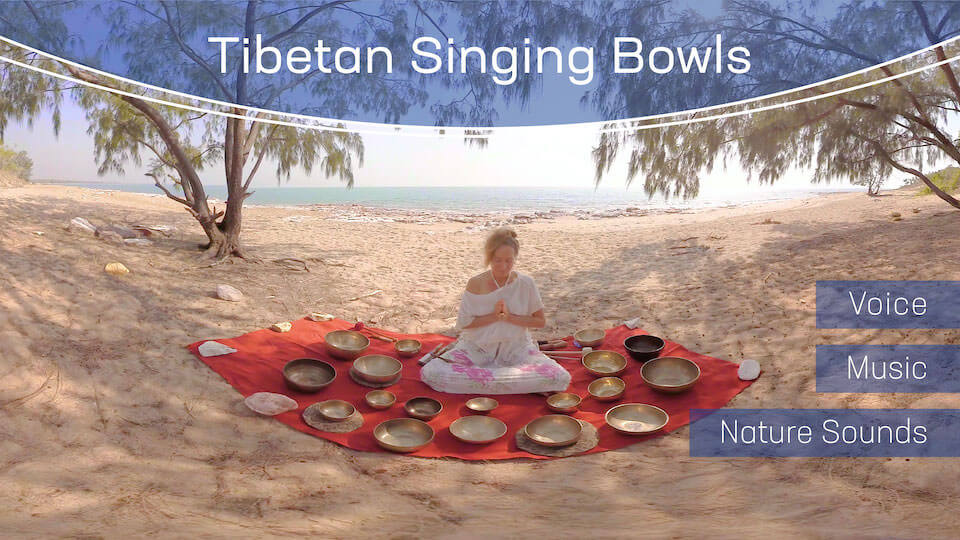 Tibetan Singing Bowls | VR Relaxation | 360° Video title=
